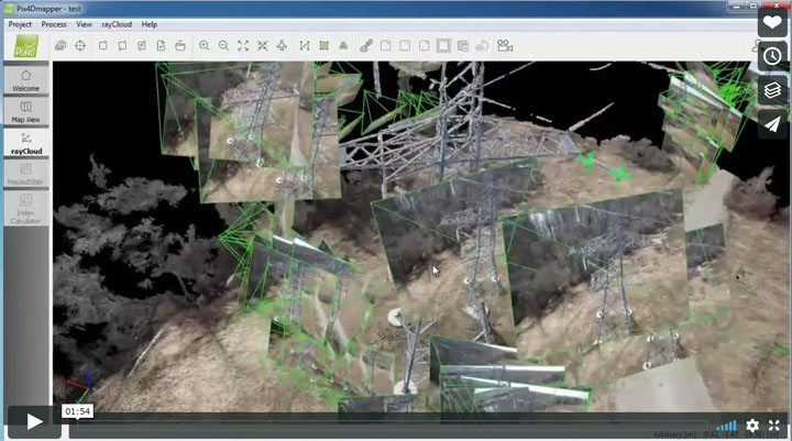 Pix4D – Mapping and Inspecting a power tower