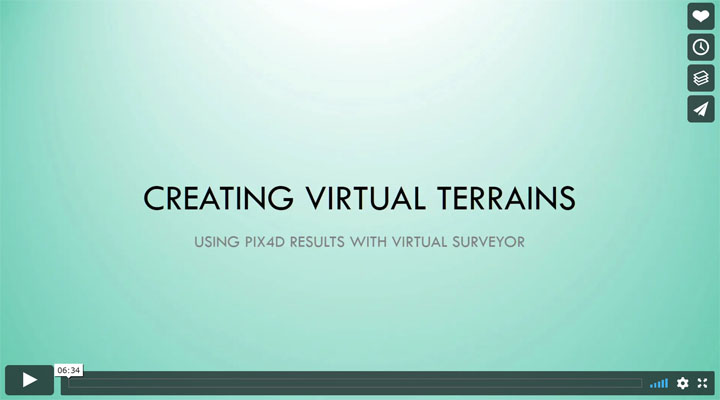 Using Pix4D files to create terrains in Virtual Surveyor